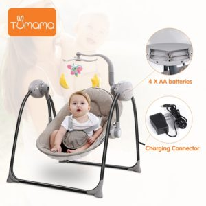 Baby Electric Rocking Chair - Blister Brown 4