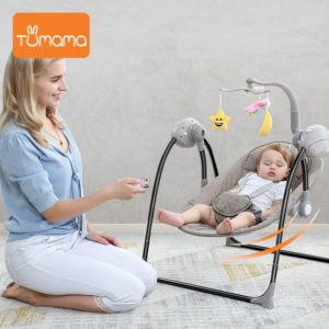 Baby Electric Rocking Chair - Blister Brown 5